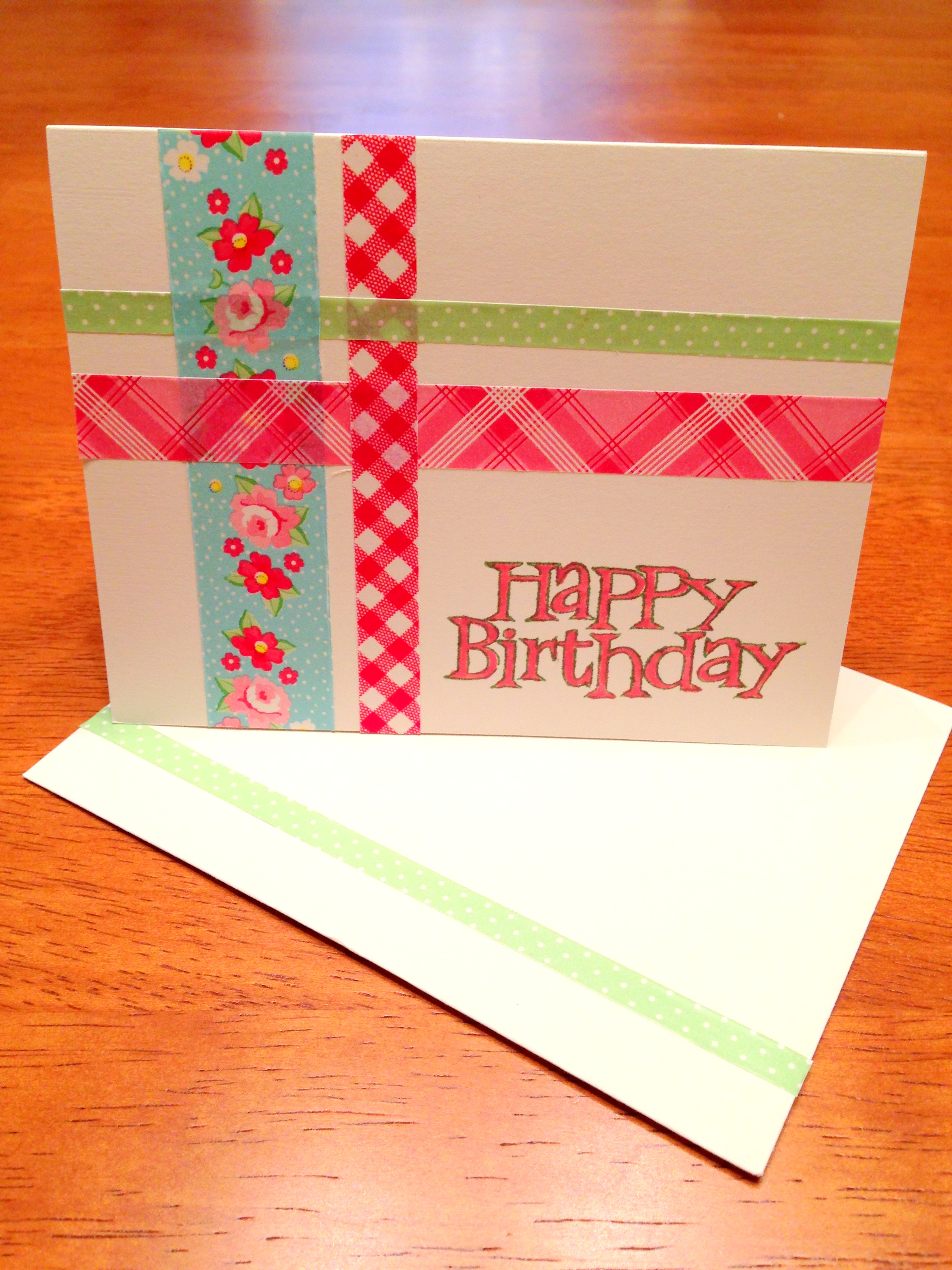 DIY Washi Tape Birthday Card - Styled by Jess