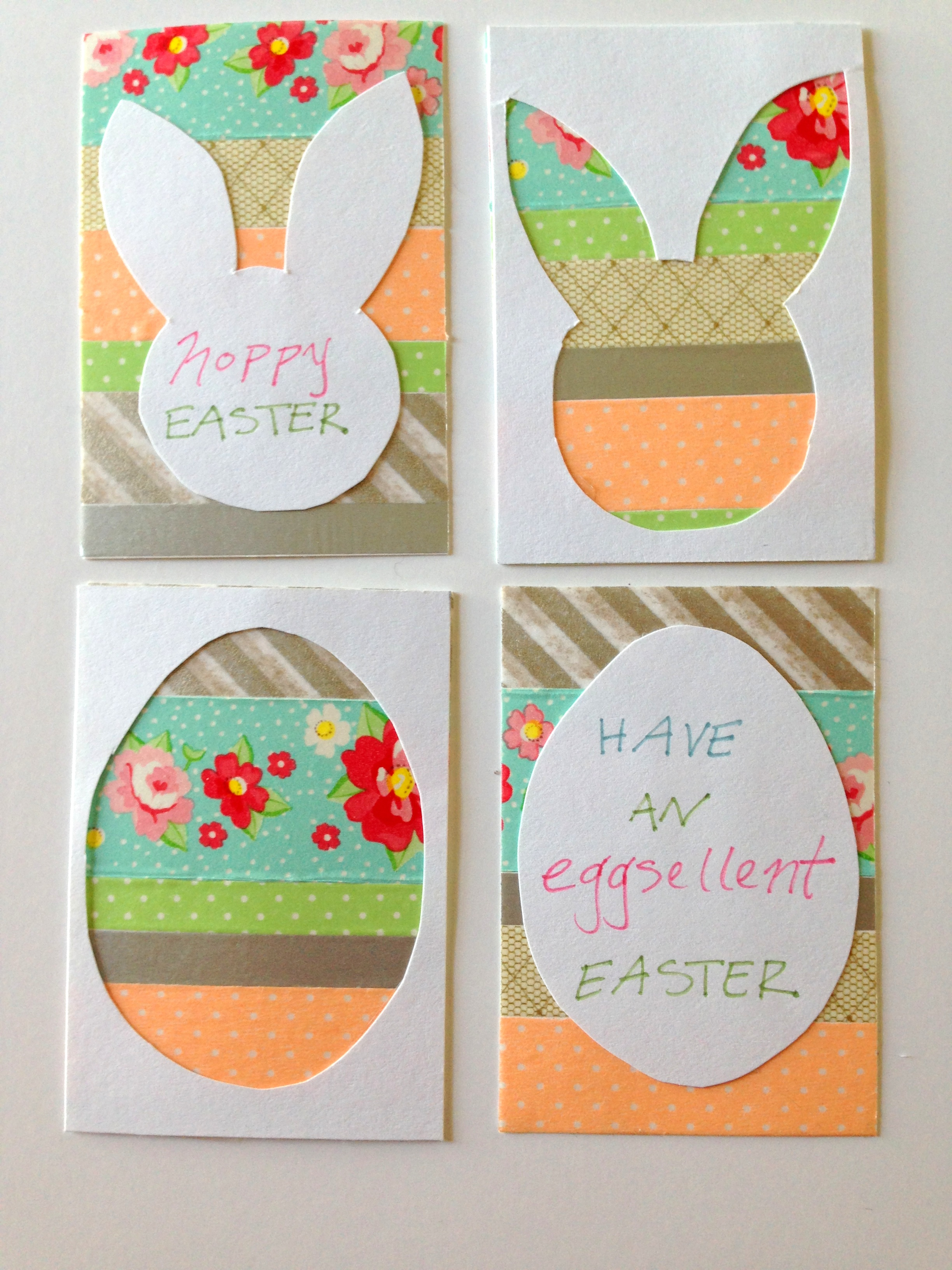 washi tape easter egg card styled by jess